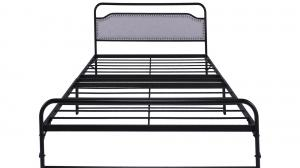 Cheap Bedroom Villa Industrial Iron Bed Frame Odm In Black Color for sale