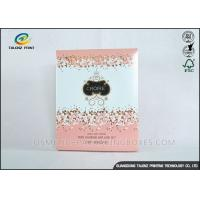 Cheap Luxury Pink Cosmetic Packaging Boxes For Mask Product / Cosmetic for sale
