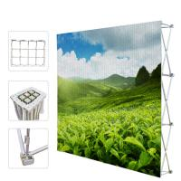 Cheap Portable Trade Show Backdrop Stand Various Shapes Detachable Frame 250g Fabric for sale