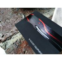 China Latest Fancy Black Business Cards , Customized Printed Velvet business cardsWith Foil Stamping on sale