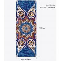 China Suede Fabric + Natural Rubber Portable Yoga Mat , Indoor / Outdoor Yoga Mat on sale