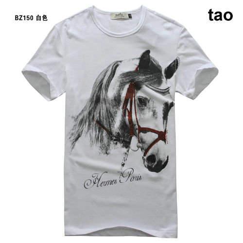 Good quality hermes men casual t shirt cotton t shirt for Good t shirts brands