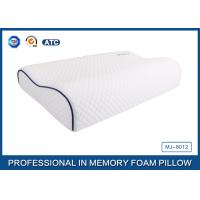 Cheap Customized Embroidery Logo Tencel Fabric Contour Memory Foam Pillow With Piping for sale