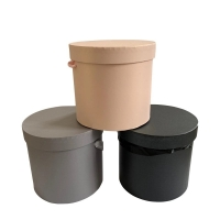 Cheap High quality round cardboard boxes recyclable flower box for roses packaging for sale