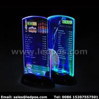 China Battery Powered LED Menu Card Sign Holder on sale