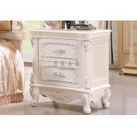Cheap Antique Photo White French Style Wood Nightstand for sale
