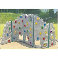 Cheap Attractive Shapes Children Plastic Climbing Wall Weather Resistant for sale
