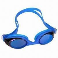 Cheap Anti-fog Swimming Goggle with UV Protection, Clear Vision and Silicone Frame for sale