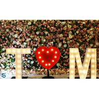 Buy cheap Stage Decoration Flower Wall Panels , DIY Artificial Flowers On Wall from wholesalers
