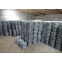 Cheap 15cm PVC Coated Wire Barbed Fence For Lawn Railways for sale