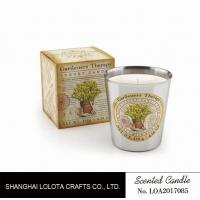 Cheap Beautiful Smelling Home Scents Candles , Aromatherapy Soy Candles Amber Fragrance for sale