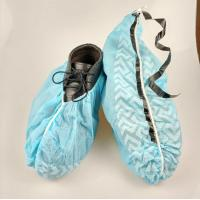 Buy cheap Slip Resistance Plastic Shoe Protectors , Disposable Waterproof Shoe Covers from wholesalers