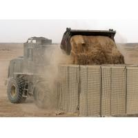 Cheap Military Welded Hesco Bastion Barrier Wall , Gabion Hesco Barriers Geotextile Lined for sale