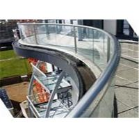 Cheap China supplier domestic railing aluminum U base channel glass balustrades for sale