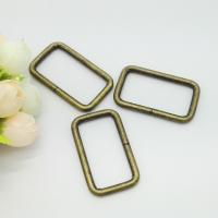 Cheap Zinc Alloy Adjustable Sliding Square Ring Buckle , Rectangle Ring Hardware 30*10mm for sale