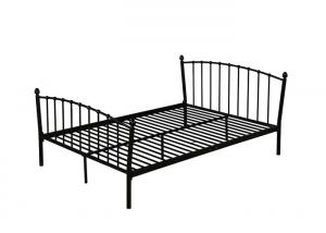 Cheap Glossy Finish Contemporary ISO14001 1.2mm Metal Double Bed for sale
