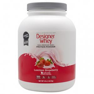 Cheap Designer Whey Protein Powder Luscious Strawberry  4 lbs for sale