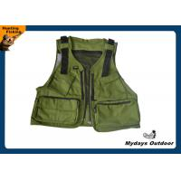 Army green youth hunting fishing vest 11 pockets with for Green top hunting and fishing