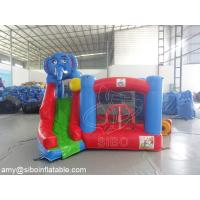 Cheap Commercial Kids Elephant Inflatable Slide Bouncer For Amusement Park Equipment for sale