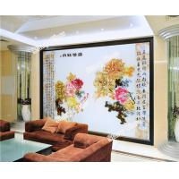 Cheap Decorative Engraved Glass Wall Background for sale