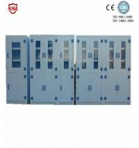 Cheap Custom Hospital Corrosive Medical Storage Cabinet PP Polypropylene , 6 Doors for sale