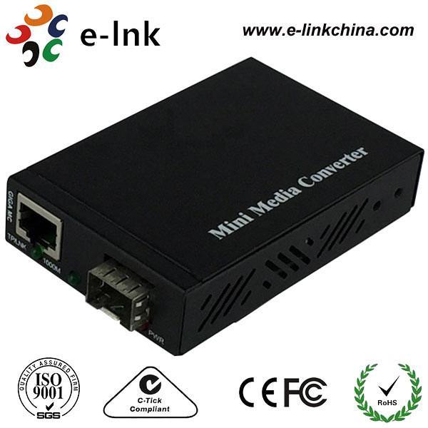 Quality Mini SFP / LC Fiber Ethernet Media Converter With SFP Port , Fiber To Gigabit Ethernet Converter wholesale