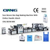 Cheap Automatic Non Woven Bag Making Machine With Handle for sale