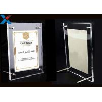 Cheap Clear Acrylic Photo Frame A4 A3 Certificate / Business License Frame for sale
