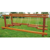 Quality metal swing sets for kids buy from 221 metal for Wooden swing set with bridge