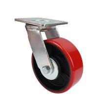 Cheap Heavy wheels of industrial Caster with red PU wheel for sale