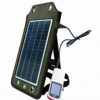 Cheap Portable Solar Charger, Apply to Charging Outdoor, 6V/830mA Solar Panel Output for sale