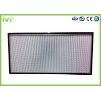Cheap H10 - H14 Efficiency Hepa Filter Replacement , Pleated Panel Air Filters Easy To Install for sale