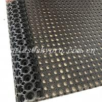 Cheap Anti Slip / Anti Fatigue Interlocking Porous Rubber Floor Mat , Thickness 8mm - 50mm for sale