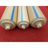 Cheap Natural Color Plastic Nylon Rollers Small Power Consumption For Industries , Long Service Life for sale
