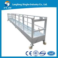 Cheap CE steel fixed decorative suspended platform ,zlp building gondola, zlp800 steel cradle for sale