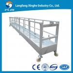 Cheap CE steel fixed decorative suspended platform ,zlp building gondola, zlp800 steel cradle for sale
