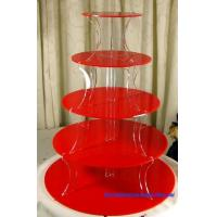 Cheap Red Acrylic Cake Stand (CS-A-0020) for sale