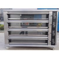 Cheap Four Deck Four Trays Electric Baking Oven Gas Electric Deck Oven for Bread for sale