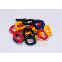 Cheap Split Ring Flat Weld Plastic Wrist Coil Badge Accessories Various Colours for sale