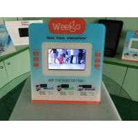 Cheap 7 Inch Calender / Clock UV Printed POS Advertising Display With Video Auto Play for sale