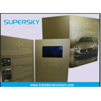 Cheap Rechargeable LCD Video Brochure , Video In Print Brochure For Advertising for sale