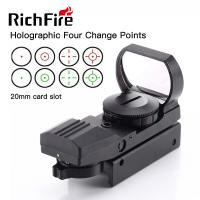 Cheap 4 Reticle Paintball Gun Scopes 11mm 20mm Red Green Dot Reflex Sight High Stability for sale