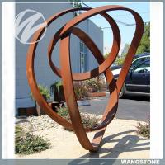 Cheap Unique Garden Art Sculptures / Corten Garden Sculpture Welding Technique for sale