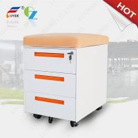 China mobile filing cabinet with cushion FYD-H004,3 drawer,5 wheels,3 section slideway,RAL colo on sale