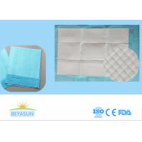 Cheap Disposable Incontinence Bed Sheets Protectors , Sanitary Bed Pads Blue Color for sale