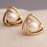 Cheap Fashion Accessories OEM ODM China Manufacturer PayPal Accepted White Pearl Earring for sale
