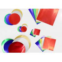 Cheap Gummed Colored Paper Circles Gloss Finish Combined With Squares And Circles for sale