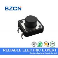 Cheap Black Round Button SMD Tactile Switch Through Hole Type For High Density Mounting for sale