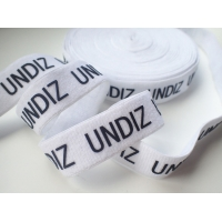 Cheap Printed Silicone Logo On Elastic Webbing Tape Customized Design for sale