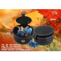 China factory wholesale square and round PU leather candy boxes for promotion